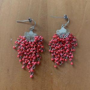 Handmade coral earrings